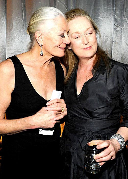 Vanessa Redgrave and Meryl Streep attend a New York Gala 2010.