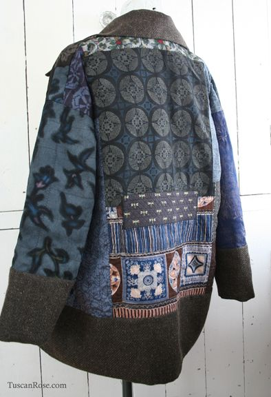 Kimono jacket w/ more tailored sleeves.