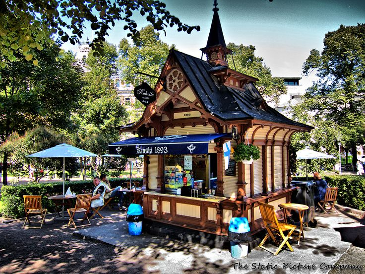 The smallest cafe, Esplanade Park, Helsinki