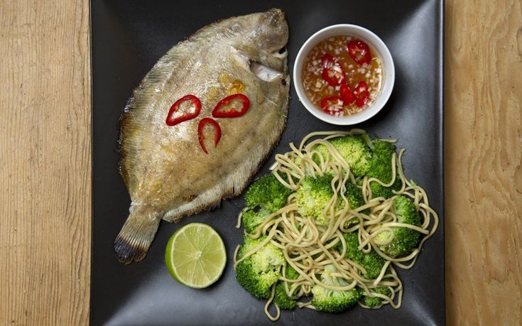 Slip sole with lemongrass dipping sauce, Xanthe Clay.  5:2 diet: healthy recipes 250 calories or less - Telegraph