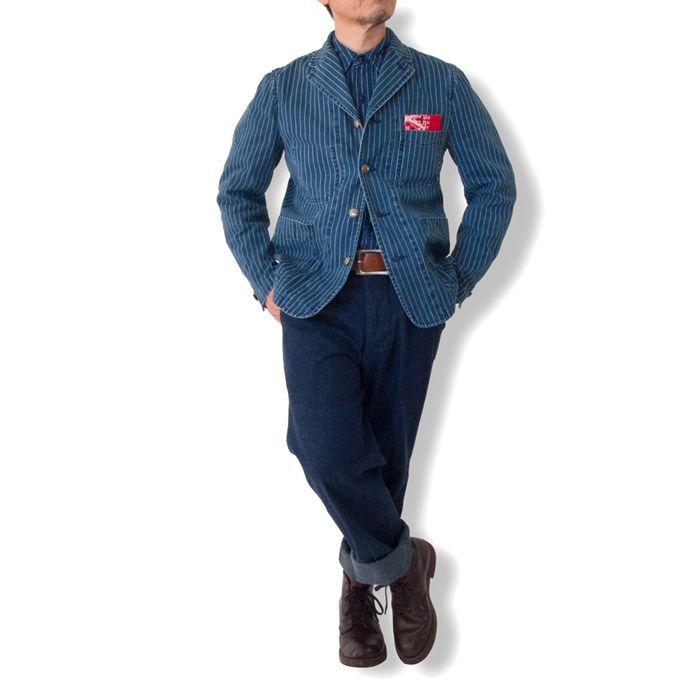 メンズファッション 40代 50代 60代 日本製 送料無料。ウォバッシュワークジャケット カバーオール テーラードジャケット アンコンジャケット