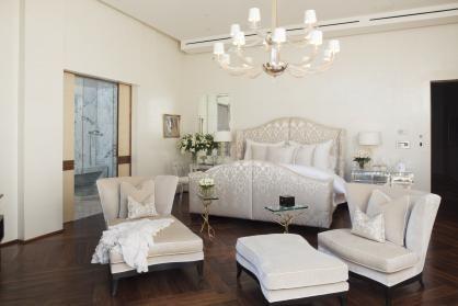 Houston Design Blog | Material Girls | Houston Interior Design » 40′s Drama in a Bed & Bath
