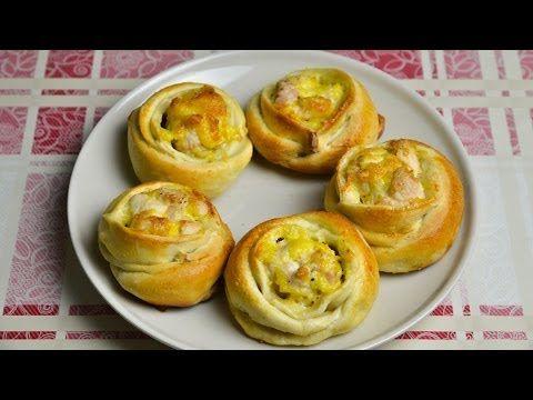Слойки с мясом и сыром / Простые рецепты