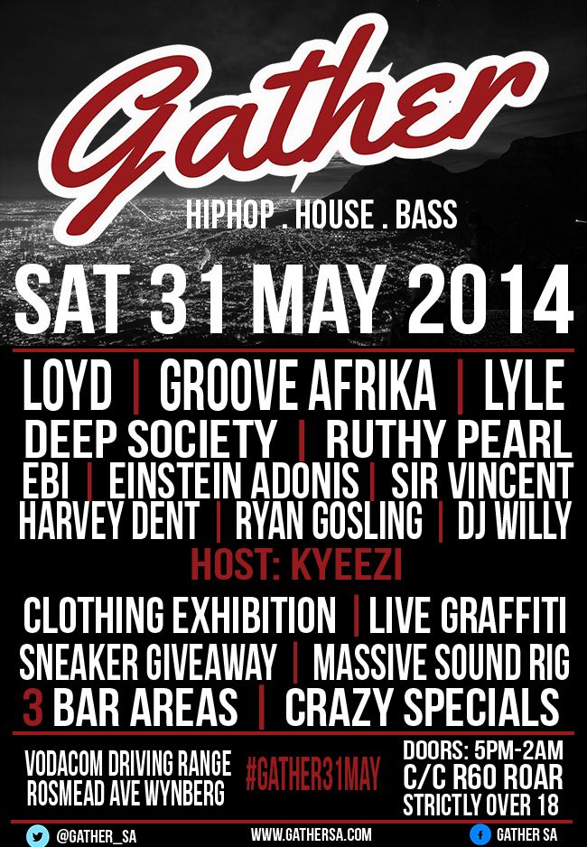 Gather SA to host jamming jol on 31 May 2014 | www.capetowners.com