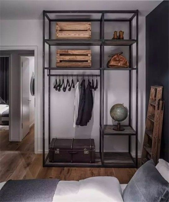 industrial style closet designs that youll love - Bedroom Design Concepts