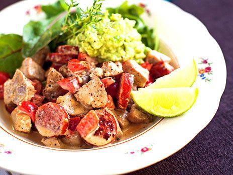 Fläskfilégryta med sallad och guacamole | Recept från Köket.se