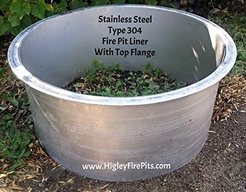 Amazon.com : Stainless Steel Fire Pit Ring -Liner Insert With Top Flange- - 200+ Best Higley Firepits Images By Higley Metals On Pinterest