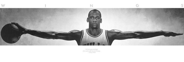 "Michael Jordan Wings - Life Size Door Poster (Size: 21"" x 62"")CHICAGO BASKETBALL #Jordan"