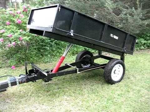 Hydraulic Dump Trailer for Farm Tractor - YouTube