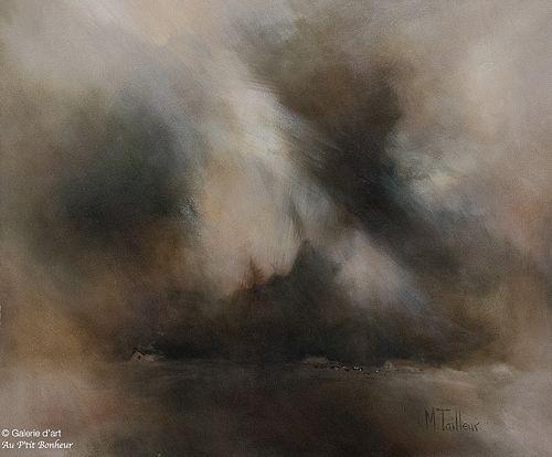 Madeleine Tailleur, 'Esprit protecteur', 20'' x 24''   Galerie d'art - Au P'tit Bonheur - Art Gallery