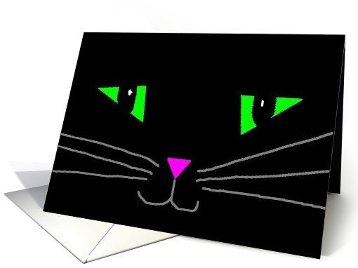 Black Cats card: Halloween kitty Greeting Card