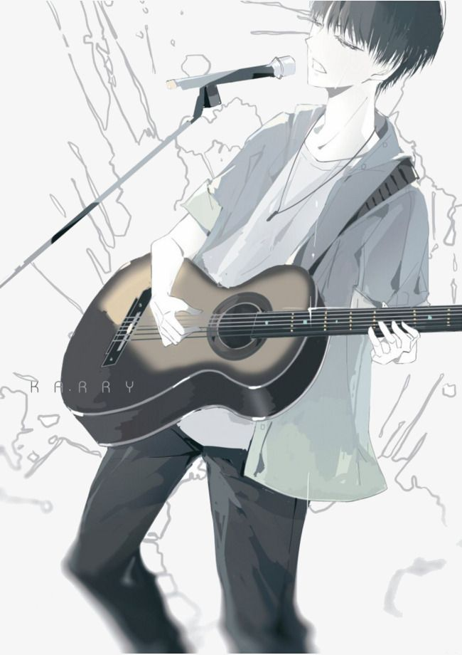 Guitar Boy Guitar Boy Dark Anime Guys Anime Music