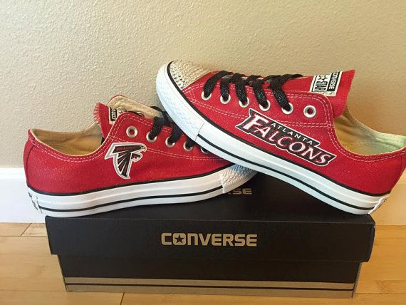 Glitter Bling Atlanta Falcons Converse by Bling4Kicks on Etsy