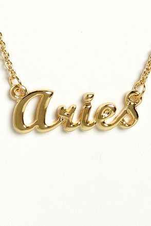 Zodiac Attack Gold Aries Necklace #iwant