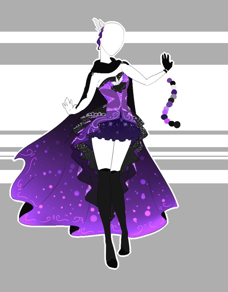 white and purple anime shirt