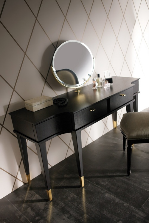Dark Wood Vanity Table. Elegant Classic Dressing Table Using Stylish Wooden Material Design  Modern Mid Century Tables Finished In Black Equipped W 66 best Desks images on Pinterest Bureaus and