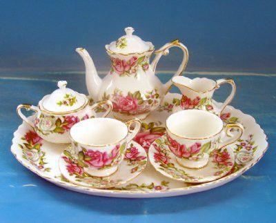 Princess Pink Girls Porcelain Tea Set - Assorted Girls Tea Sets - Roses And Teacups  - 1