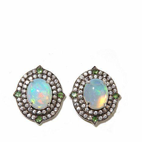 silver earring gem - Google zoeken