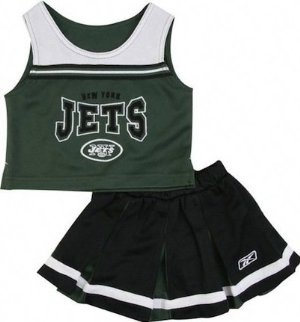 New York Jets Cheerleaders Costume. The Perfect Costume For Young Girls Who Love The New York Jets