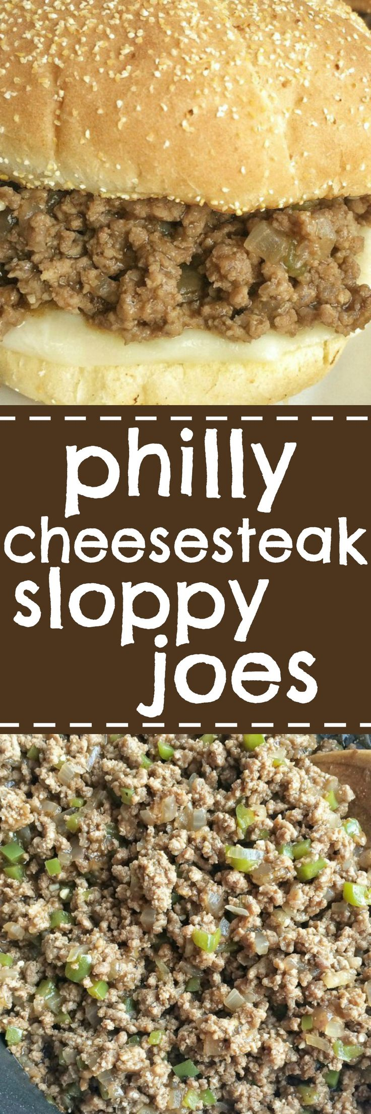These philly cheesesteak sloppy joes are a fun twist to traditional sloppy joes. A perfectly seasoned ground beef mixture with beef broth, steak sauce, and steak seasoning. Toasted buns, melted provolone cheese, and the philly cheesesteak ground beef make these sloppy joes a family favorite dinner.