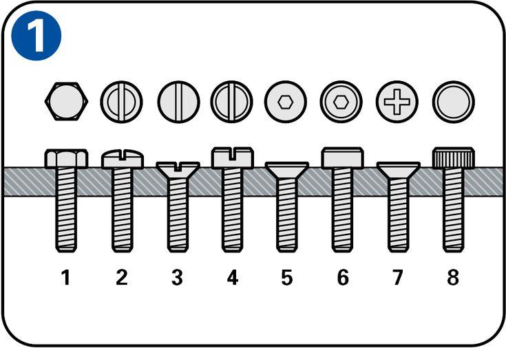 Atornillar en metal - Pernos y tornillos