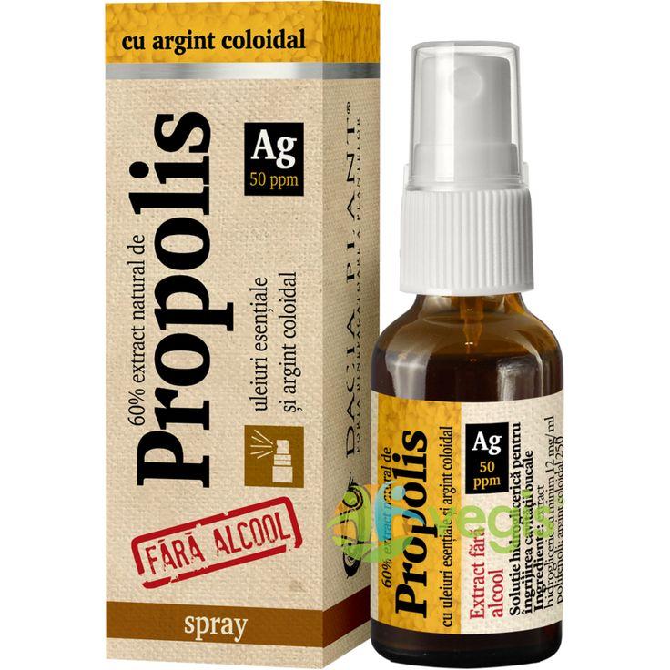 Propolis Cu Argint Coloidal Fara Alcool Spray 20ml DACIA PLANT