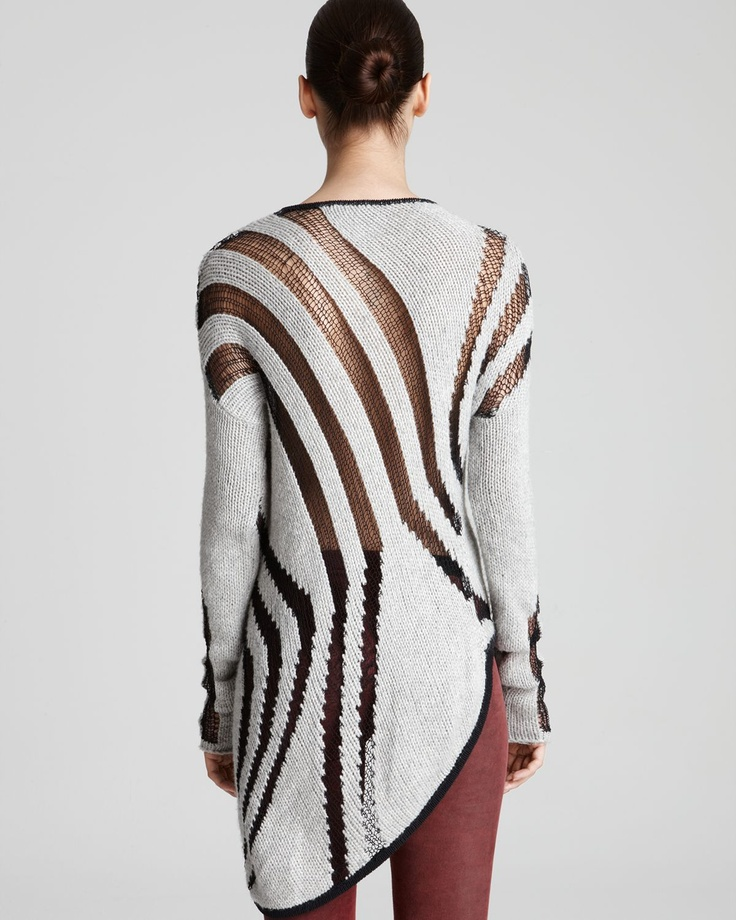 Helmut Lang Sweater - Asymmetric Instarsia | Bloomingdale's