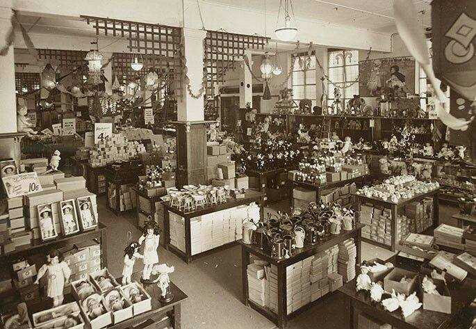 Myers toy department 1920s