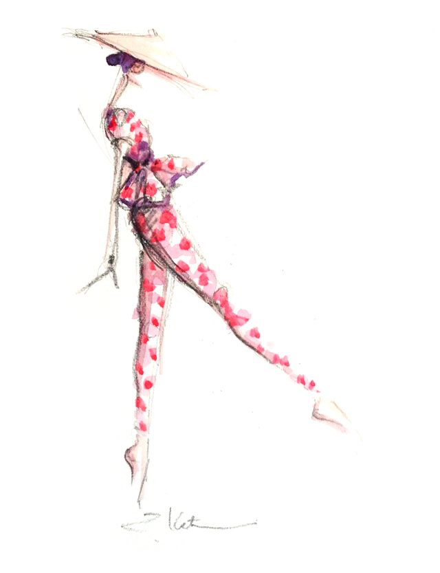 Delpozo Spring 2013 collection illustrated by Paper Fashion.