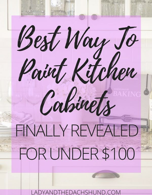 Lady & the Dachshund show you a simple DIY to paint kitchen cabinets in your home a fresh new color using Rust-Oleum chalk paint!