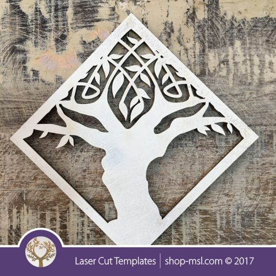 Product Laser cut coaster template. Tree design, free Vector patterns every day. @ shop-msl.com