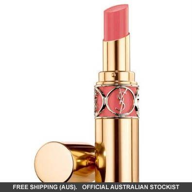 Yves Saint Laurent Rouge Volupte Shine Lipstick 12 Corail InCandescent #adorebeautydreamhaul