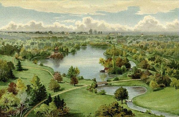 Lac de Melzéar (Deux-Sèvres), Chromolithographie, J.L. Goffart, Revue horticole, 1929-1974 ©Musée du Vivant