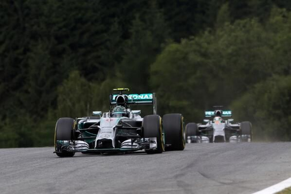 Mercedes fifth 1-2 finish in 2014 #F1 #AustrianGP #SSF1