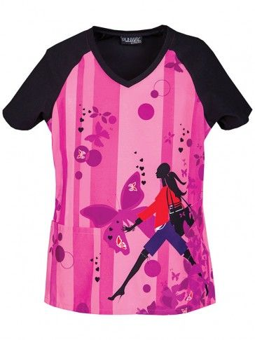 "Runway Women's ""Stepping Out"" V-Neck Top | #nurse #fashion | #printscrubs | #spring"