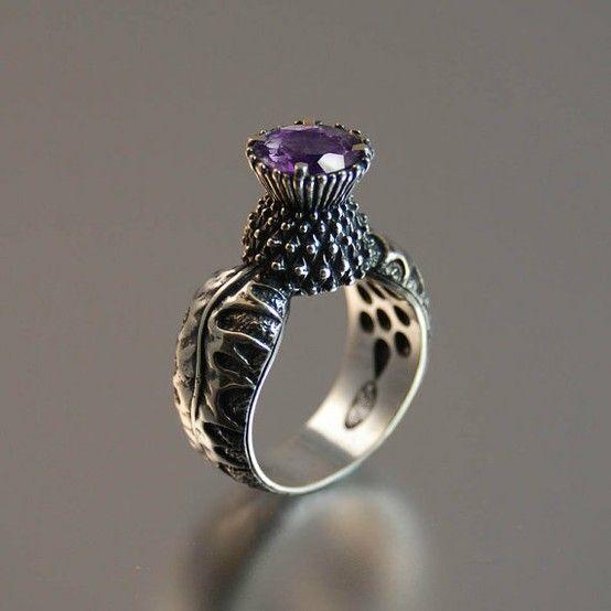 LOVE this Scottish thistle ring.