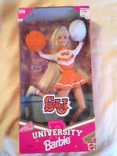 NIB UNIVERSITY BARBIE Collectable - SYRACUSE UNIVERSITY Cheerleader