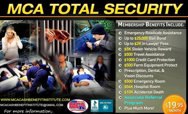 The Total security plan is the most popular plan to get..Its a good reason for that, Everyone is satisfied with this plan www.mcacashbenefitinstitute.com