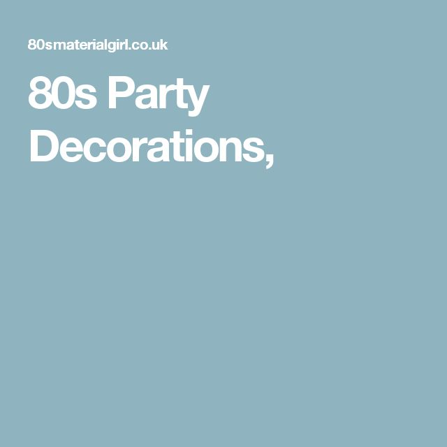 80s Party Decorations,