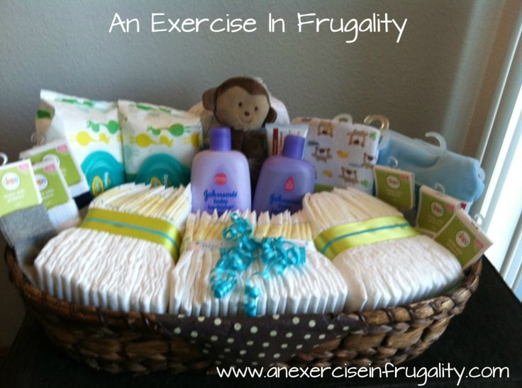 How To Make A Budget Baby Shower Basket. I think I'd like this more than a diaper cake!
