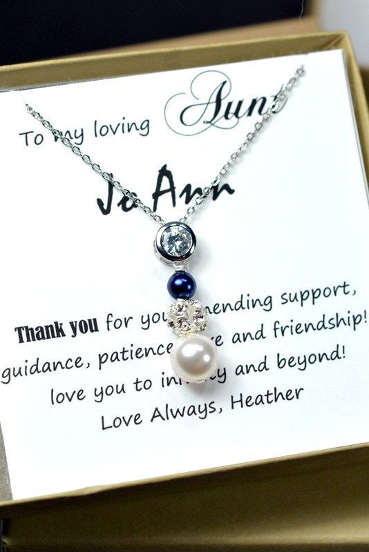 Wedding Gifts For Nephew : Gift for Aunt , Bride Groom Mother Gifts ,Mothers day jewelry , pearl ...