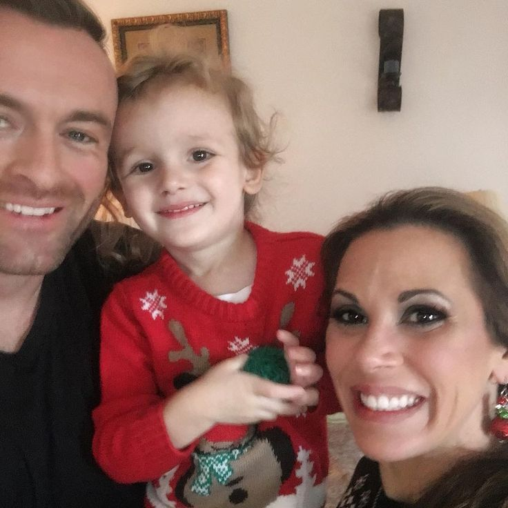 WWE Superstar Mickie James and her husband Nick Aldis (Magnus) celebrating Christmas with their three-year-old son Donovan Patrick #WWE #wwecouples #wwewives #wwewags #wwefamilies #wwekids