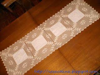 naperons de pano   Linho e Crochet (nº 11)