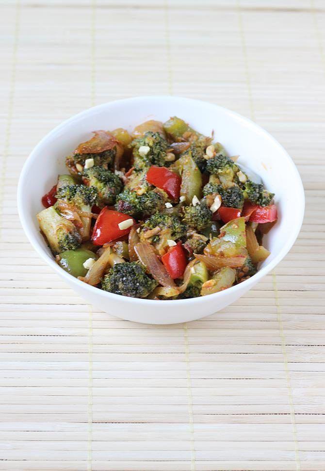 Broccoli curry recipe - Broccoli stir fry recipe - Indian broccoli recipes