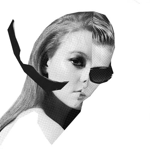 black and white fashion collage / erin flannery
