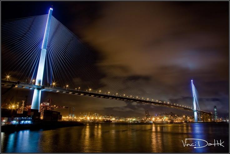 Stonecutters Bridge, Tsing Yi / Stonecutters Island, Hong Kong.