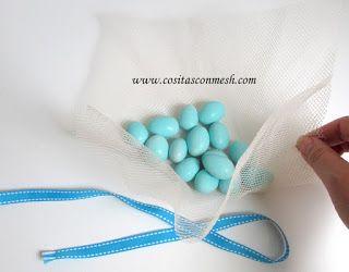Cigueña con dulces para baby shower