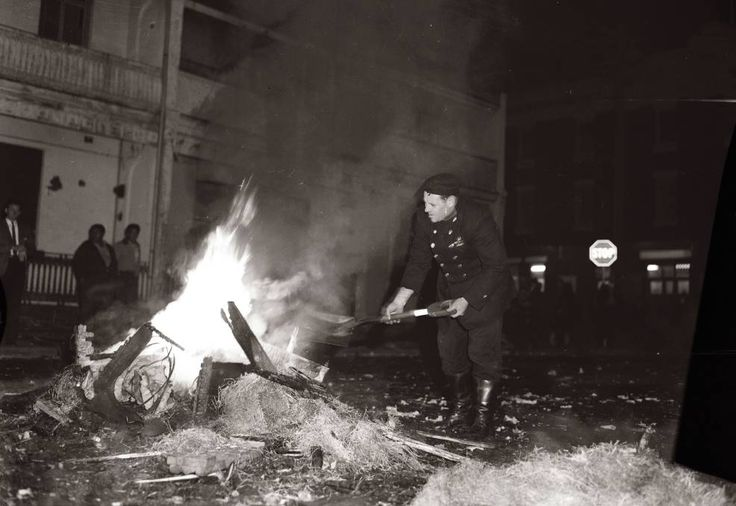 Bonfire night in Waverley  on 24 May, 1963. Photography by A. LINSEN
