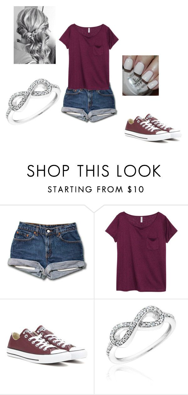 """Untitled #150"" by luna-lovegood-659 ❤ liked on Polyvore featuring H&M, Converse, OPI and Reeds Jewelers"