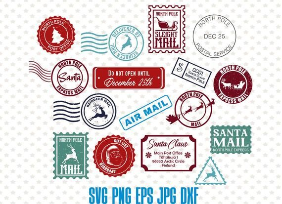 Christmas North Pole Post Mark Clip Art Christmas Holidays Christmas Magic Christmas Love